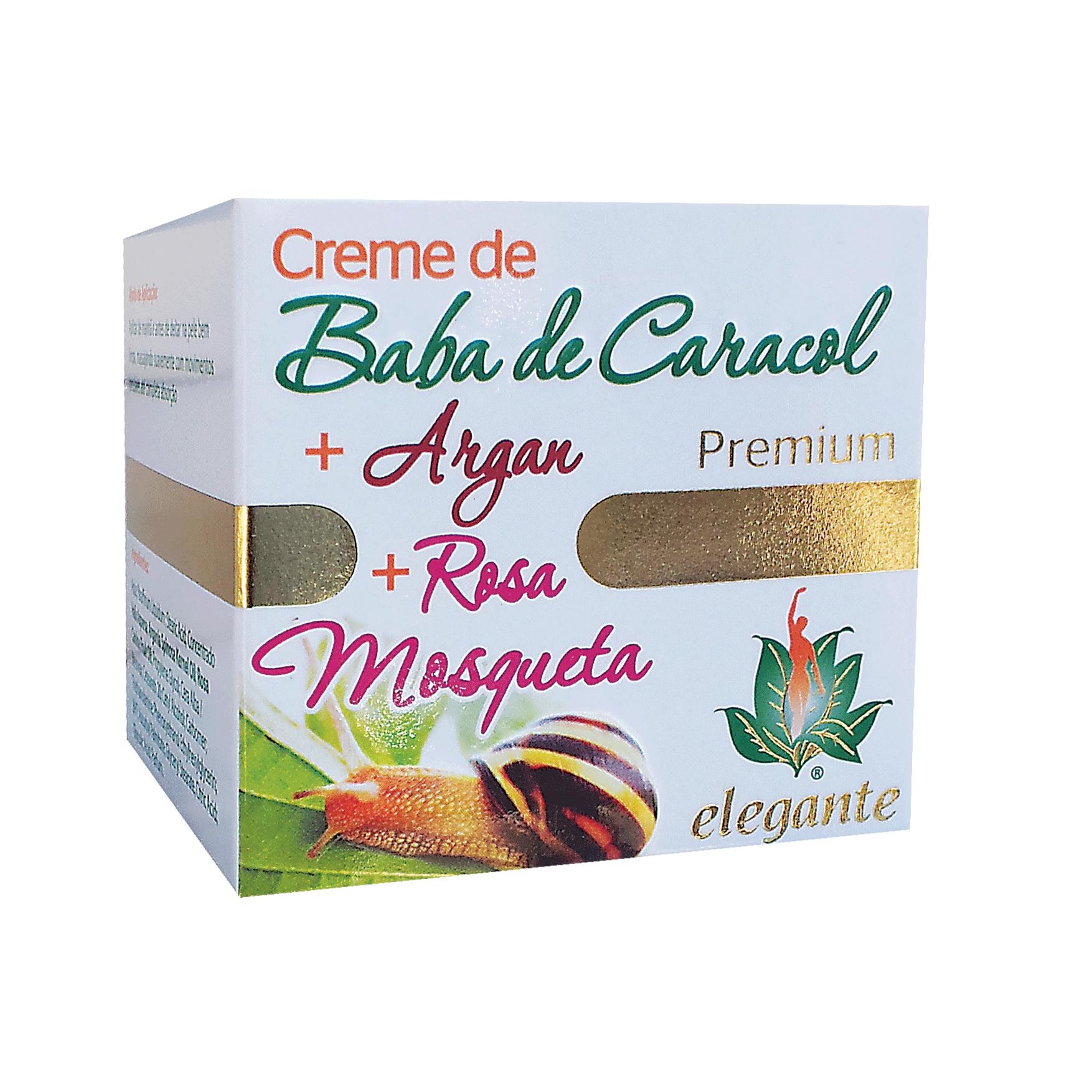 Creme Baba de Caracol + Argan + Rosa Mosqueta PREMIUM