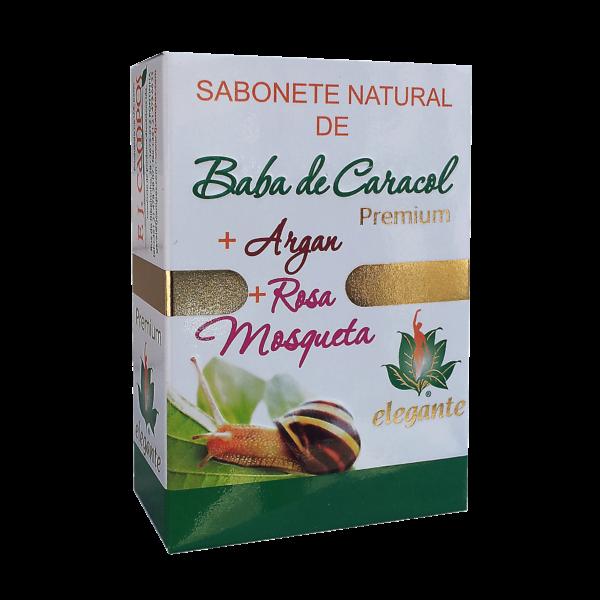 Sabonete Baba de Caracol + Argan + Rosa Mosqueta PREMIUM