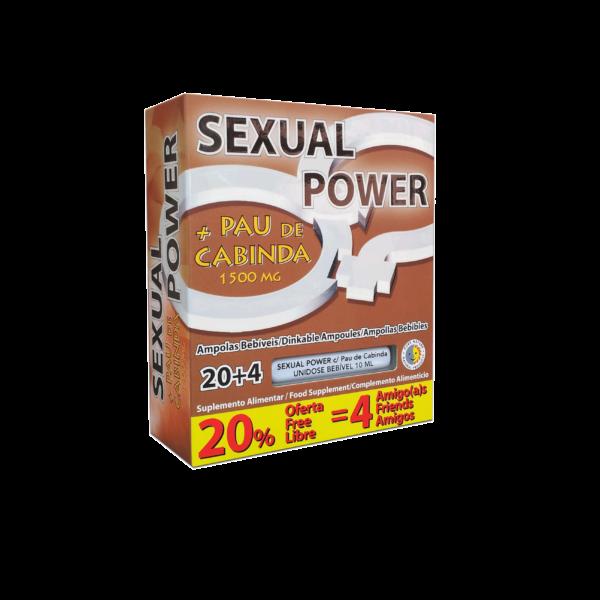 Sexual Power + Pau de Cabinda, ampolas